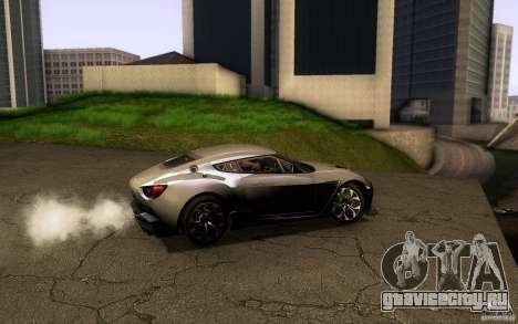 Aston Martin Zagato V12 V1.0 для GTA San Andreas вид сбоку