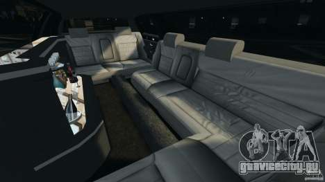 Lincoln Town Car Limousine 2006 для GTA 4 вид изнутри
