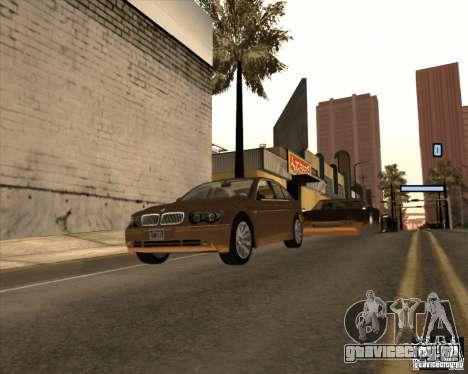 BMW 760i для GTA San Andreas вид сзади слева