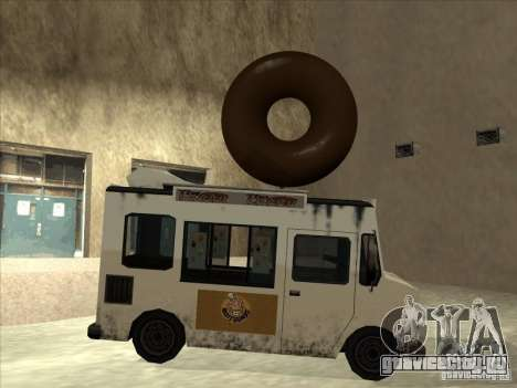 Donut Van для GTA San Andreas вид сзади слева