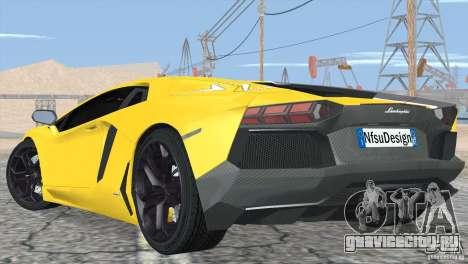 Lamborghini Aventador LP700-4 2012 для GTA San Andreas колёса