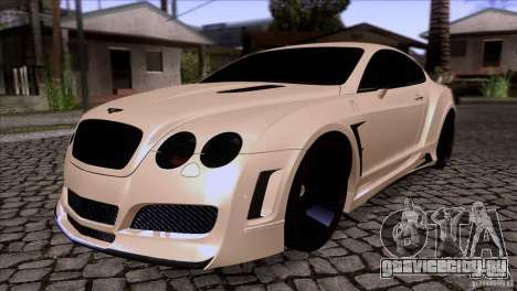 Bentley Continental GT Premier 2008 V2.0 для GTA San Andreas вид снизу