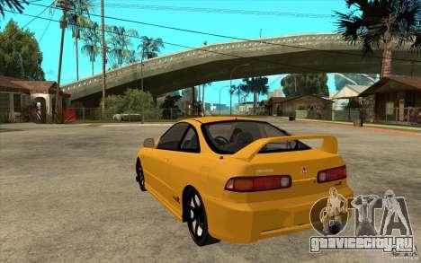 Honda Integra Spoon Version для GTA San Andreas вид сзади слева