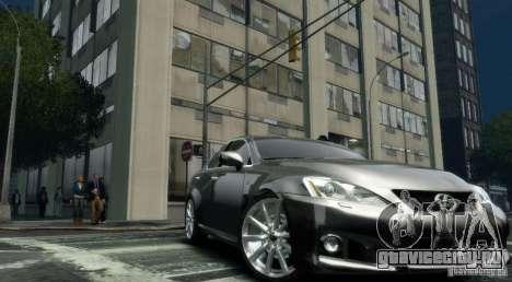 Lexus IS-F для GTA 4 вид справа