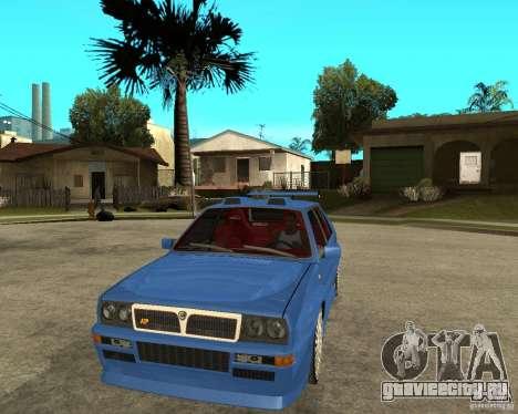 Lancia Delta Sparco для GTA San Andreas вид сзади