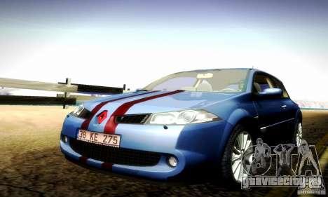 Renault Megane Coupe 2008 TR для GTA San Andreas вид изнутри