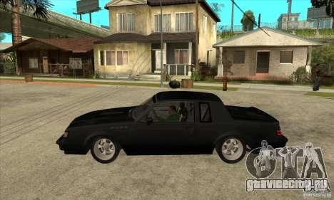 Buick Regal Grand National GNX для GTA San Andreas вид слева