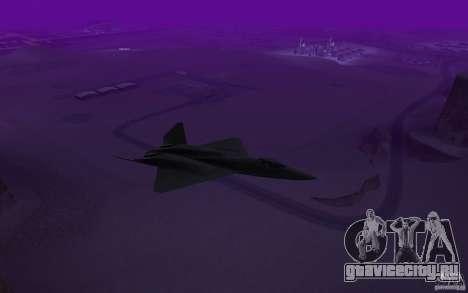YF-23 для GTA San Andreas вид сзади слева