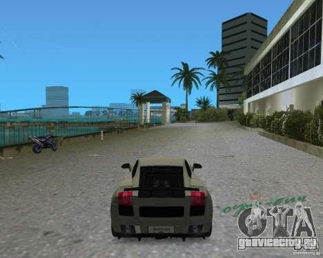 Lamborghini Gallardo Superleggera для GTA Vice City вид сзади слева