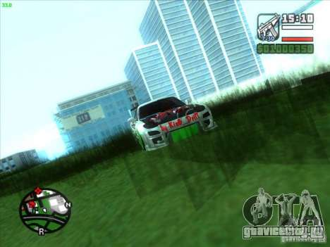 Mazda RX-7 Drift Version для GTA San Andreas вид изнутри