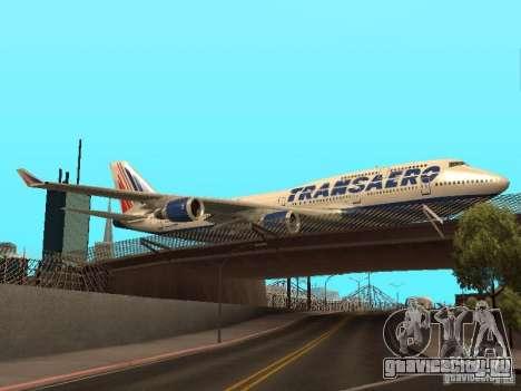 Boeing 747-400 для GTA San Andreas вид справа