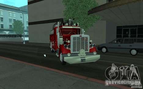 Peterbilt 379 Fire Truck ver.1.0 для GTA San Andreas вид сзади