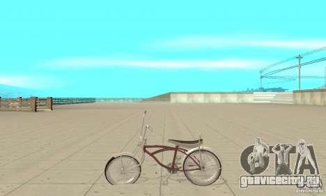 Lowrider Bicycle для GTA San Andreas вид слева
