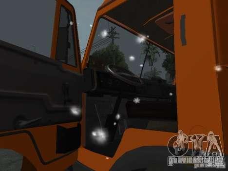 КамАЗ 53215 для GTA San Andreas вид изнутри