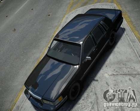Lincoln Towncar 1991 для GTA 4 вид справа