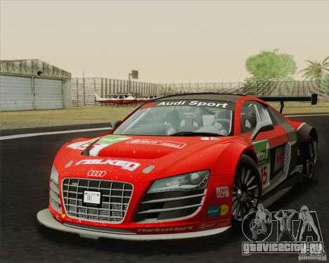 Audi R8 LMS v2.0.1 для GTA San Andreas вид сзади слева