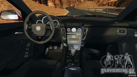 Cadillac CTS-V 2009 для GTA 4 вид сзади