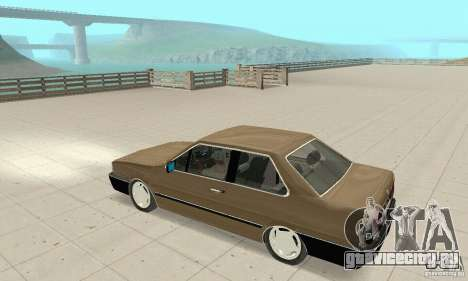 Volkswagen Santana GLS 1989 для GTA San Andreas вид изнутри
