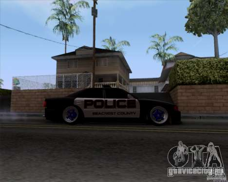 Toyota Chaser jzx100 Drift Police для GTA San Andreas вид сзади