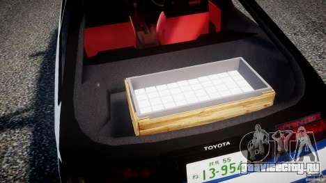 Toyota Trueno AE86 Initial D для GTA 4 вид снизу