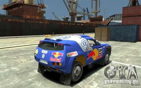 Volkswagen Touareg Rally для GTA 4 вид справа
