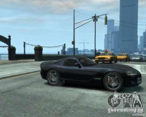 Dodge Viper srt-10 Coupe для GTA 4 вид справа
