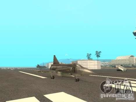 Saab JA-37 Viggen для GTA San Andreas вид сзади слева