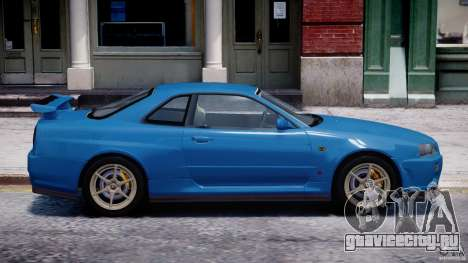 Nissan Skyline GT-R 34 V-Spec для GTA 4 вид снизу