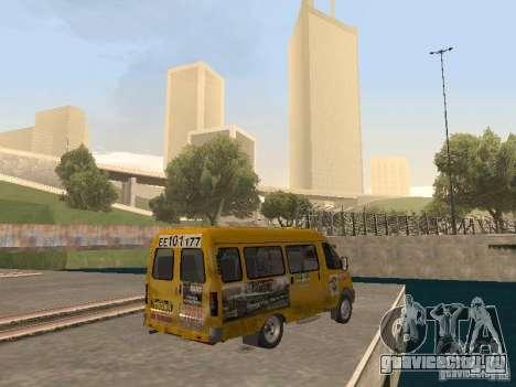 Газель Такси для GTA San Andreas вид сзади слева