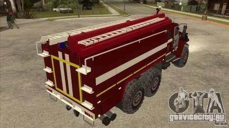 Урал 43206 пожарный для GTA San Andreas вид справа