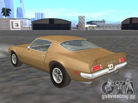 Pontiac Firebird Trans Am 1970 для GTA San Andreas вид сзади слева