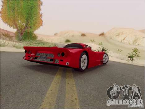 Nissan R390 Road Car v1.0 для GTA San Andreas вид сзади слева