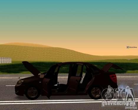 ВАЗ 2190 Сток для GTA San Andreas вид сзади слева