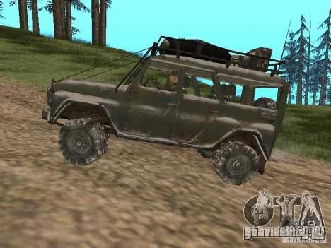УАЗ-31519 из COD MW2 для GTA San Andreas вид сзади слева