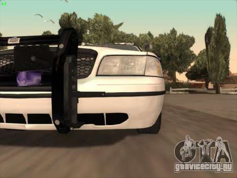 Ford Crown Victoria Vancouver Police для GTA San Andreas вид снизу