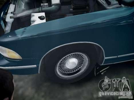 Chevrolet Caprice 1993 Rims 2 для GTA 4 вид сзади