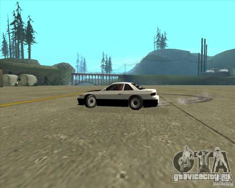 Nissan Silvia S13 streets phenomenon для GTA San Andreas вид изнутри