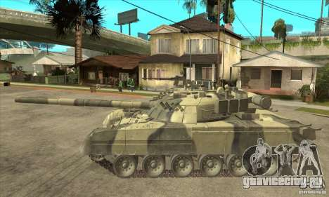 T-80U MBT для GTA San Andreas вид слева