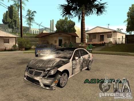 Mercedes-Bens e63 AMG для GTA San Andreas вид сзади