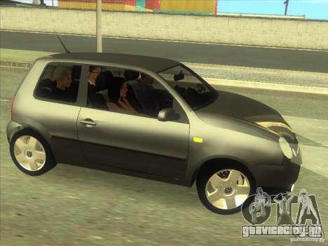 Volkswagen Lupo для GTA San Andreas вид изнутри
