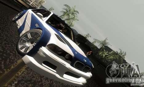 BMW M3 GTR для GTA San Andreas вид сверху