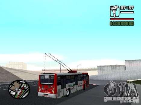 Caio Millennium TroleBus для GTA San Andreas вид справа