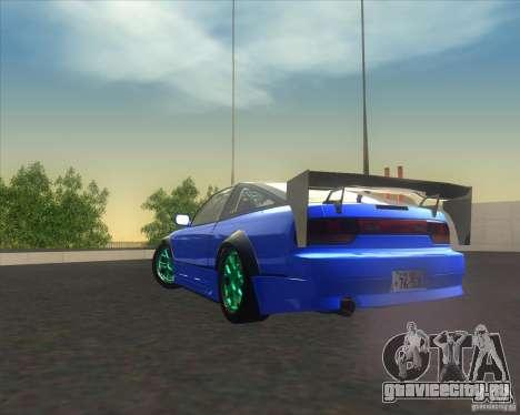 Nissan 240SX for drift для GTA San Andreas вид сзади