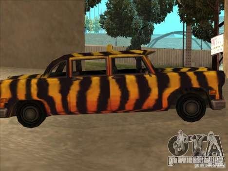 Zebra Cab из Vice City для GTA San Andreas вид слева