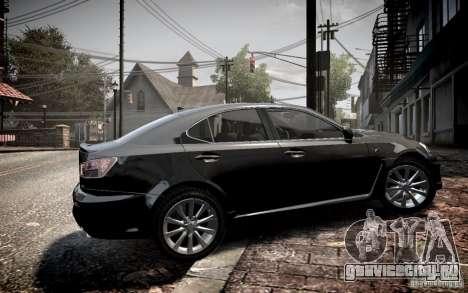 Lexus IS-F для GTA 4 вид слева