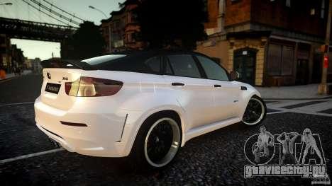 BMW Х6 Hamann для GTA 4 вид сзади слева