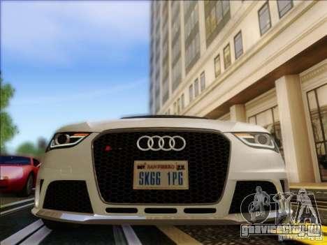 Audi RS4 Avant B8 2013 для GTA San Andreas вид сзади