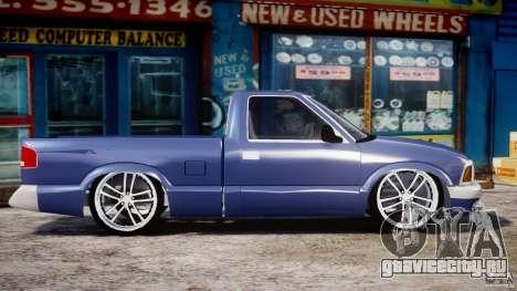 Chevrolet S10 1996 Draggin [Beta] для GTA 4 вид изнутри