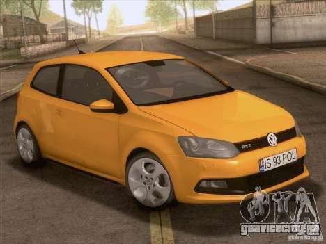 Volkswagen Polo GTI 2011 для GTA San Andreas вид сверху