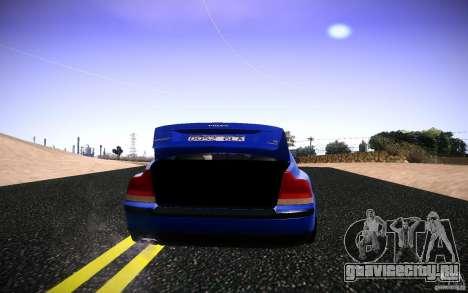 Volvo S 60R для GTA San Andreas вид сзади